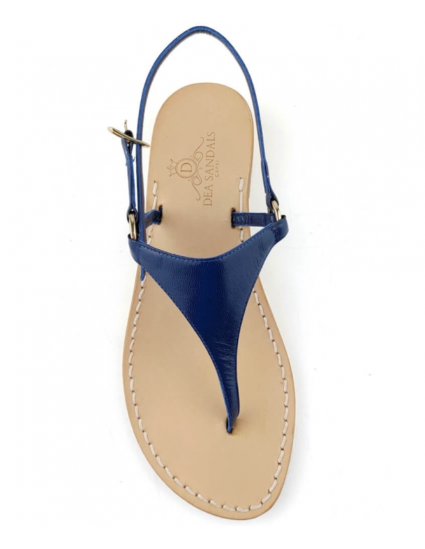 5f693fc3c6d00 Migliera Blue Sandals strip in leather color Blue lined in leather