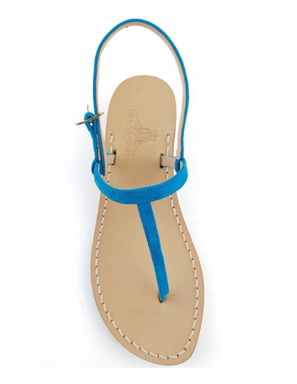 Piazzetta Turquoise suede...
