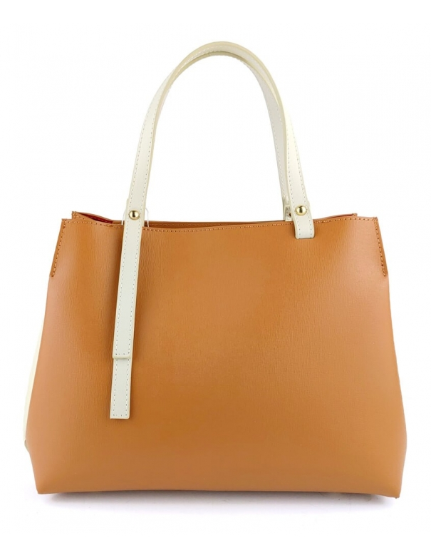 Brigitte Leather White Bag