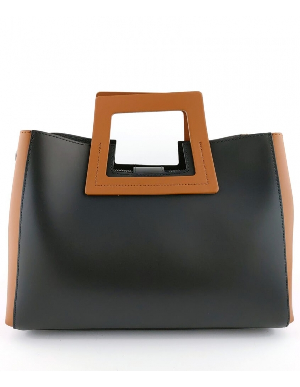 Sophia Black Leather Bag