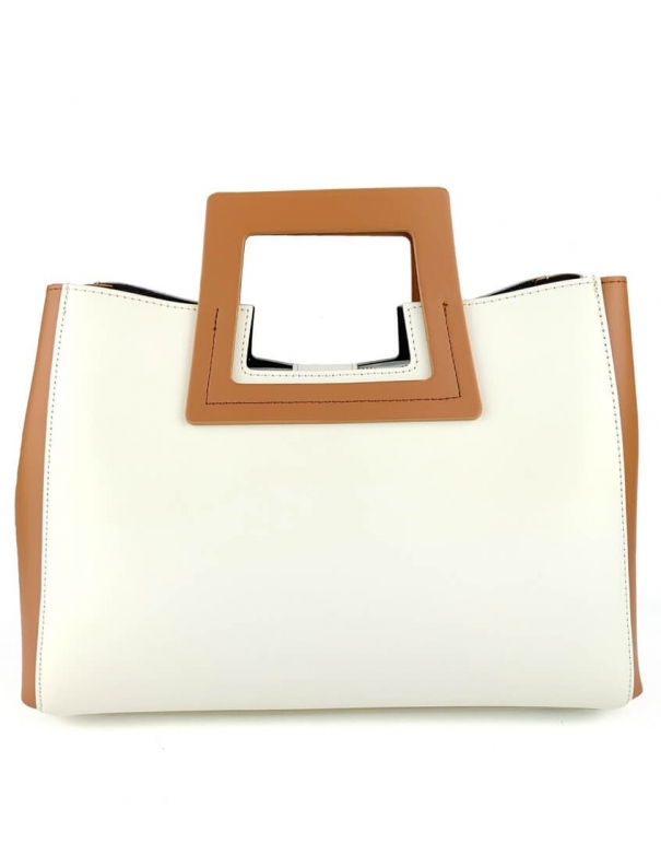 Sophia Leather Cream Bag