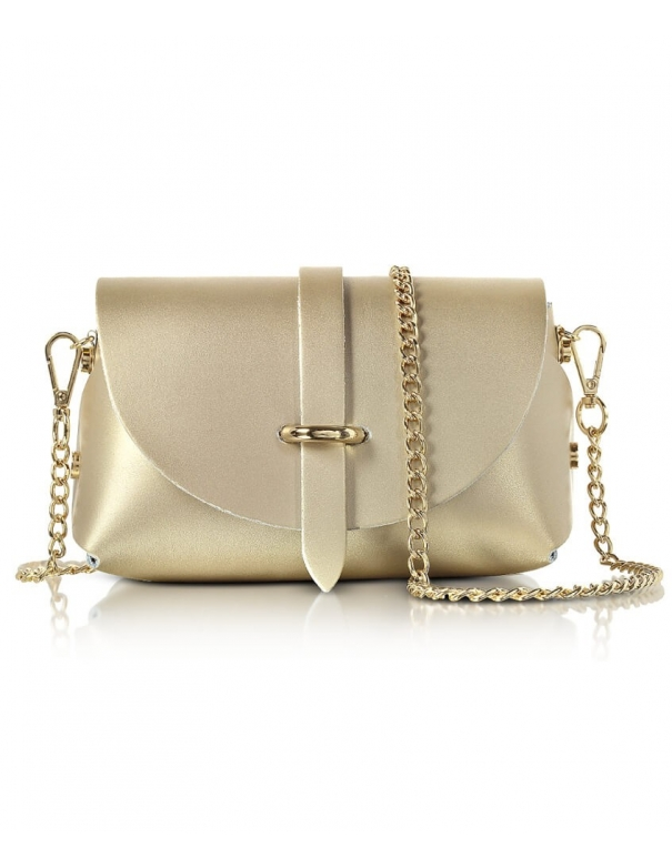 Luna Gold Leather Bag