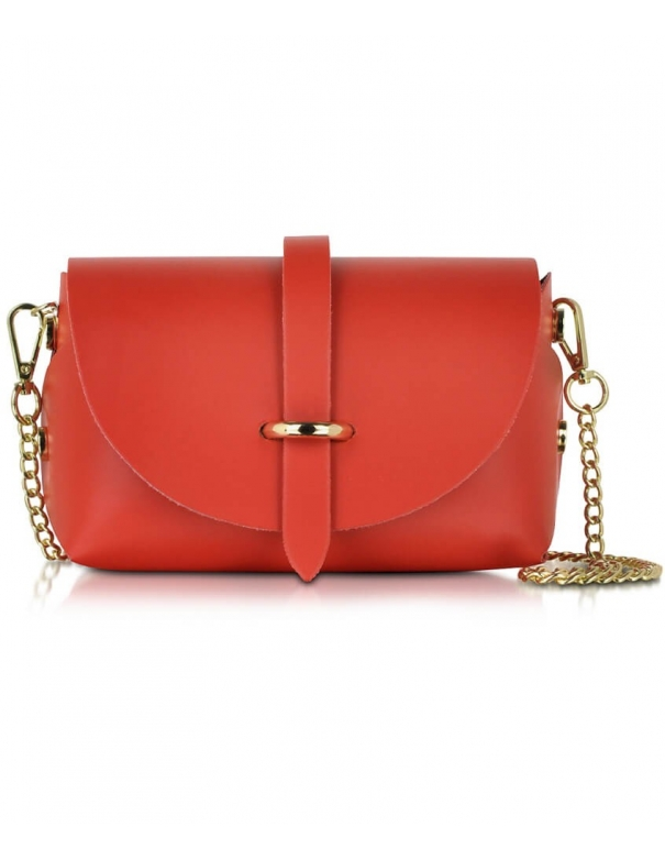 Luna Red Leather Bag