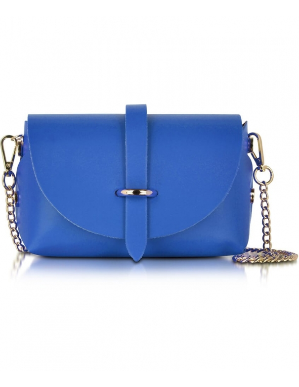 Luna in Pelle blu Bag