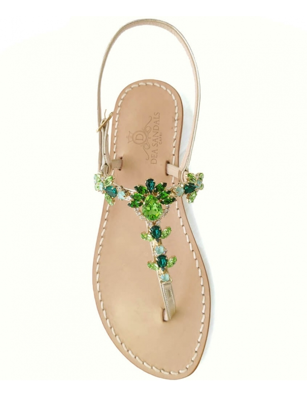 Princess Green Capri Sandals