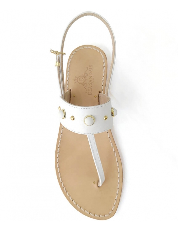 Capri Queen White Sandals