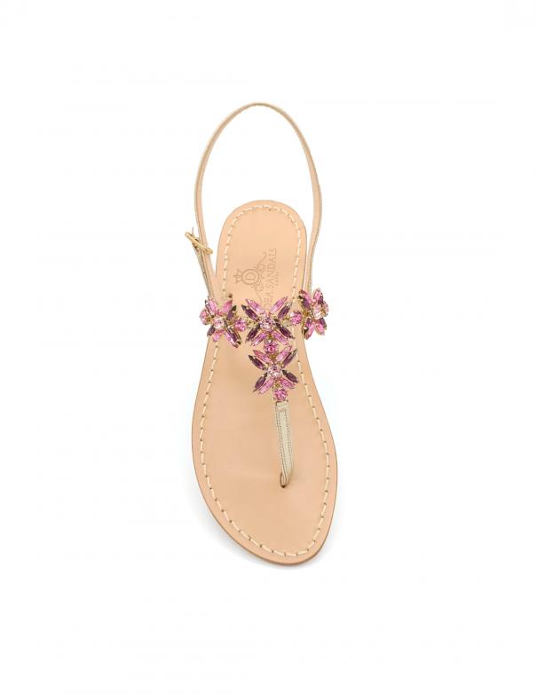Sandali Bagni di Tiberio Rosa Ametista