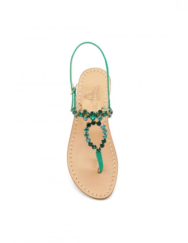 Sandali Gioiello Cala del Limmo Smeraldo