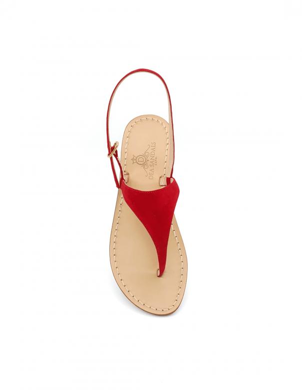 Sandali Migliera Camoscio Rosso