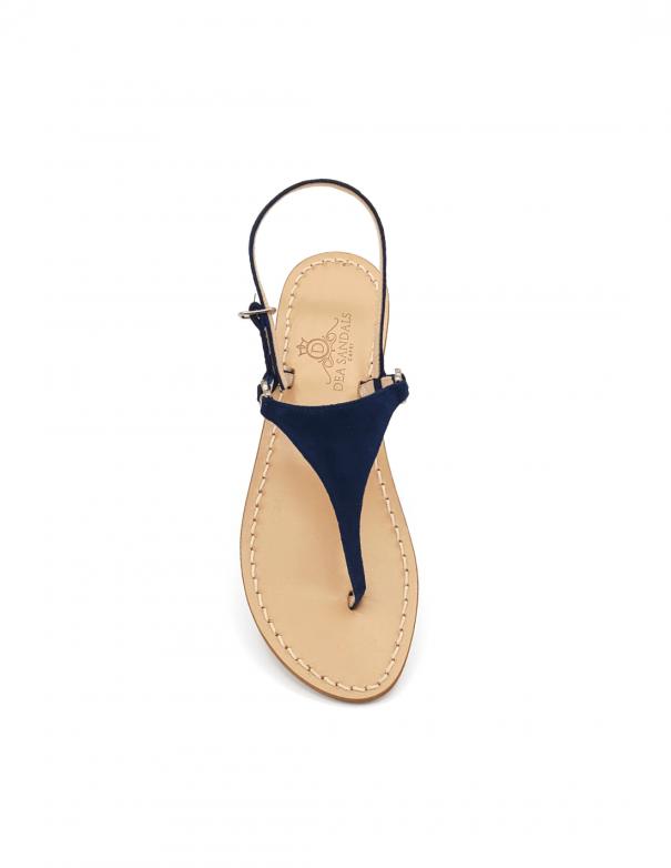 Sandali Migliera Camoscio Blu