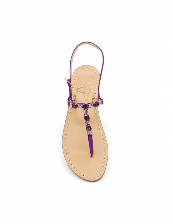 Linear Violet jewel sandals