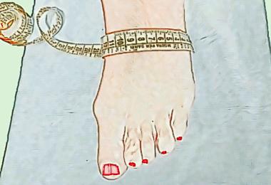 misura del collo del piede