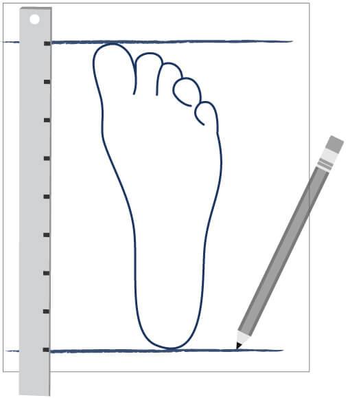 Rilevamento misura del piede