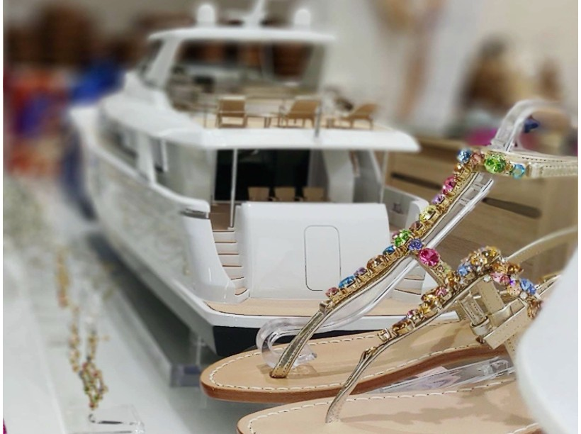 Customized Capri sandals as well as boats and yachts